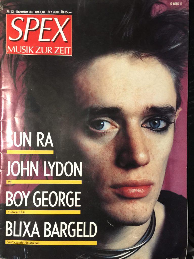 SPEX Magazin, Blixa Bargeld