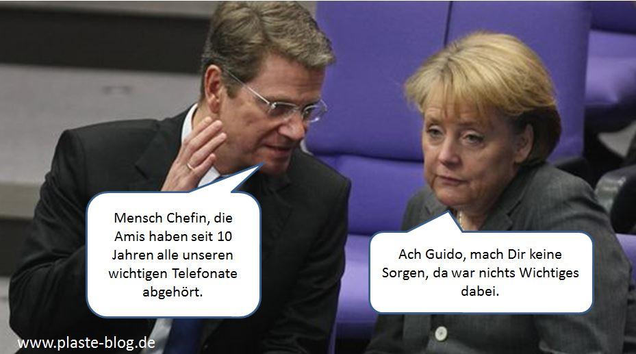 Merkel, Westerwelle, NSA