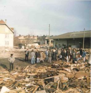Landwatten Abriss, 1985