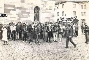 1981 FUKK Demo auf dem Münsterplatz