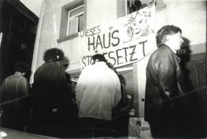 1981 FUKK Besetzung in der Brunnengasse