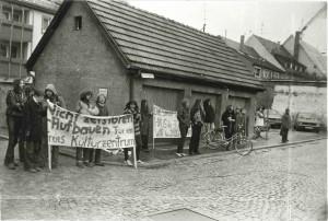 1981 erste Demo vom FUKK in der Brunnengasse, Villingen