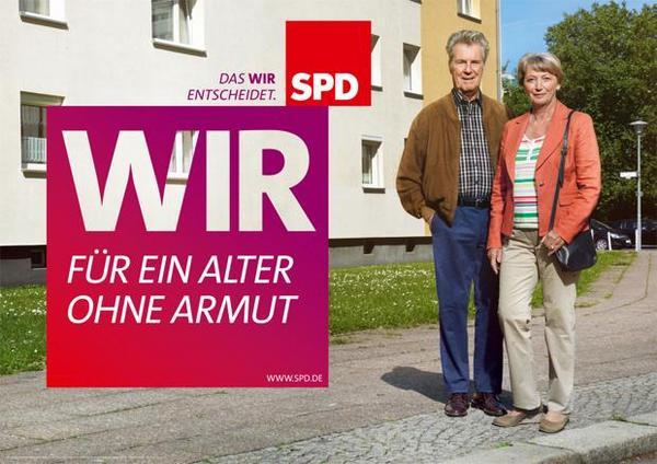 Krass! Die Harz IV-Erfinderpartei, präsentiert ihre Wahlkampfmotive jetzt im Neue-Heimat-Ambiente. Wenn das der Schröder wüsste